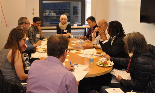 A breakout session at a NY4P: Boro x Boro citywide meeting