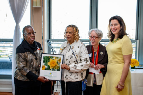 Marie Littlejohn and Jeanette Boyd, The Friends of the Adam Clayton Powell, Jr. Boulevard Malls; Catherine Morrison Golden, NY4P Board; Lynn Kelly, NY4P
