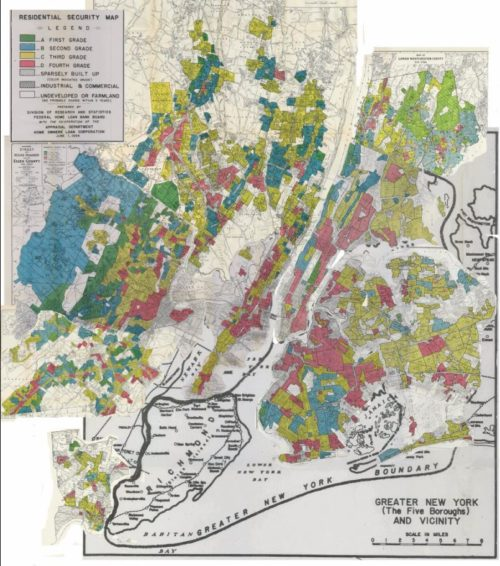 Compilation of redlined maps of New York City. Retrieved from @gregory8jost on Twitter.