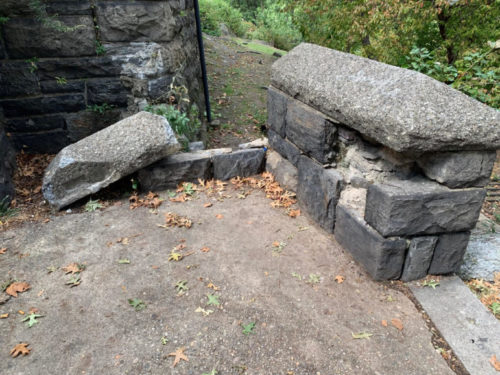 The way Parks Department capital projects are funded makes it hard for unsexy projects like stone repairs and drainage to get priority. Photo by Harry DiPrinzio.